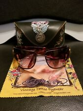 100% AUTHENTIC Ed Hardy by Christian Audigier Tortoise Sunglasses