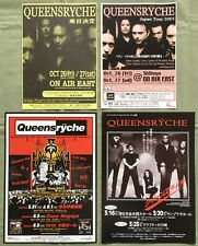 $0 ship! Queensryche Japan Promo flyer x 4 set Mini poster More Q/R In Stock