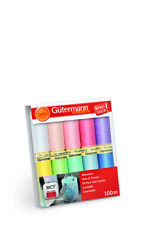 GUTERMANN SEW-ALL THREAD SET 734006 SUMMER PASTEL COLOURS - 10 X 100M REELS
