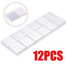 12Pcs Aluminum Mini Silver Anodized Heatsink Cooler Cooling Kit 14x14x6mm Us