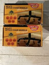 Lifelong Wheels 2 Sets Of 5 Office Chair Wheels Office Upgrade Rubber Caster