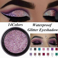 LULAA Pigment Glitter Shimmer Eyeshadow Metallic Eye Shadow Palette Makeup UK