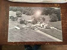 "Aerial View Farm Black & White Digital Photograph Mounted On Board 30"" by 20"" A"