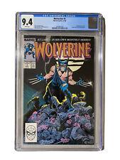 CGC 9.4 Wolverine # 1 Wolverine as Patch 1st app (1988)