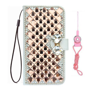 For Alcatel TCL A3 A509DL Bling flip Leather slots stand Wallet Phone Case