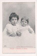 Vintage Postcard Princess Yolanda & Mafalda  of Savoy,