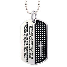Steel Necklace Chain Fashion Jewelry S* Dog Tag Cross Necklace Pendant Stainless