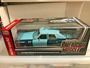 Massachusetts State POLICE 1974 Dodge Monaco 1/18 AutoWorld  RARE HTF *NEW Ertl