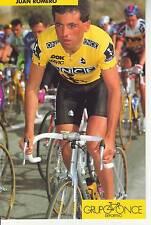 CYCLISME carte  cycliste JUAN ROMERO  équipe ONCE 1993