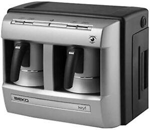 beko BKK 2113 keyf Mokka-Kaffeemaschine 1-4 Tassen Silber Grundig AUSSTELLER