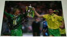 CHRIS WOODS NORWICH CITY PERSONALLY HAND SIGNED 12X8 AUTOGRAPH PHOTO