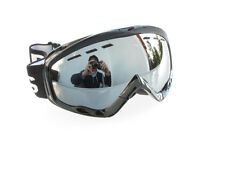 Ravs Ski Goggles - Snowboard Silver Flash Lens Boots White and Black