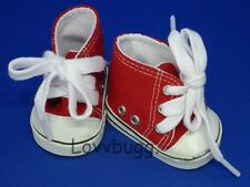 Red High Tops Tennis Sneakers for 18 inch Doll Shoes American Girl Most Variety