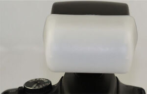 Flash Bounce Diffuser For Nikon SB400  SpeedLite Soft white New SB-400 White Box