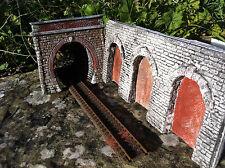 portale tunnel  per diorami e plastici ferroviari scala h0