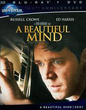 A Beautiful Mind (Blu-ray/DVD, 2012, 2-Disc Set) - NEW!!