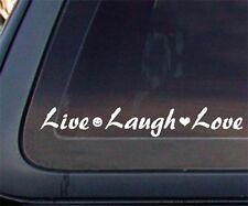 Live Laugh Love Car Decal / Sticker - White