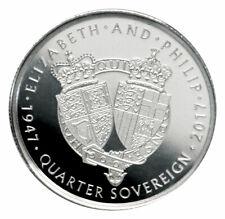 2017 Alderney 1/20 oz Platinum Quarter Sovereign Proof Coin GEM Proof SKU52715