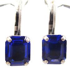 SoHo® Ohrhänger vintage bohemia Glas kobaltblau Böhmen 1960er Jahre altsilber