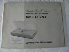 Yamaha MS-2/2B  Owner's Manual  Operating Instruction   New