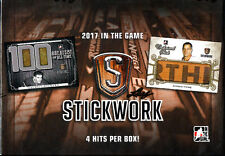 2016-17 Leaf In The Game ITG Stickwork Hockey Sealed HOBBY BOX (4 Hits per box!)