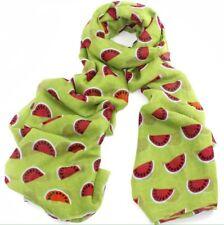 BNWT Green Watermelon Fruit Print Cute Large Summer Scarf Beach Sarong Hijab