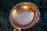 wunderschöne alte Kupferschale Handarbeit gedengelt 27cm edles Sammlerstück