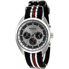 Invicta Men's Watch S1 Rally Chronograph Black, Red, White Nylon Strap 29988