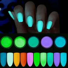 12 Colors/Set Acrylic Fluorescent Powder Glow In the Dark Manicure Nail Pigment