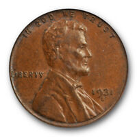 1931 S 1C Lincoln Wheat Cent PCGS AU 58 About Uncirculated Key Date Cert#5738