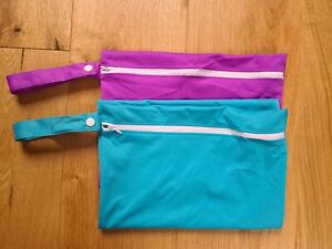 2 X Large waterproof wetbag for reusable nappy or swimwear