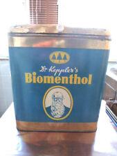 Blechdose Dr. Kepplers Biomenthol Bonbons Reklame vintage tin can Kaufladen