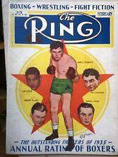 THE RING BOXING WRESTLING MAGAZINE 1935