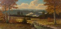Unb. (20.Jhd.). W. Richter: Harzlandschaft. Öl auf Leinwand