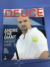 Deuce Magazine Inaugural Issue 2002.  Andre Agassi Cover.  Nice Condition / Rare