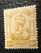 India Scott's # 89. MH. King George V. sal's stamp store