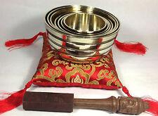 Hand Casted Tibetan Chakra 7Set Kasha Singing Bowl - Meditation Healing Bowls