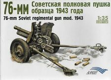 Russian WW II 76-mm Regimental Gun mod. 1943 1/35 Scale  (Free Shipping)
