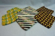 New listing Handmade Pot Holders, Four are Woven and Two are Crocheted.
