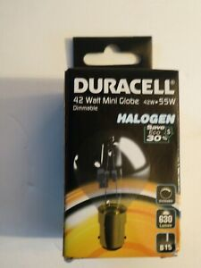 Duracell 42watt Mini Globe Dimmable Light Bulb B15 fitting