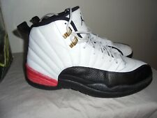 "Jordan Retro 12 ""Taxi"" Sz 11  Air retro black white red playoff shoes 130690-125"