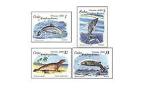KUB8001 Seals and dolphins 4 pcs MNH 1980
