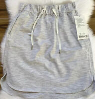 NWT Lululemon Womens On The Fly Skirt WSNB Wee Are From Space Nimbus Grey Size 6