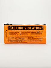 "Blue Q ""Parking Violation"" pencil case eco recylced whimsy by Adam Hill"
