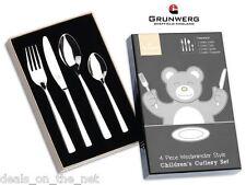 Westministe 4 Piece Child Cutlery Gift Box Set Stainless Steel Grunwerg Children