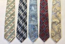Lot of 5 VENTURI UOMO 100% Silk Hand Made Men's Ties