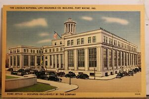 Indiana IN Fort Wayne Lincoln National Life Insurance Co Building Postcard Old
