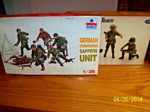 Assorted lot of Two Military Personel Model Kits in 1/35 Scale