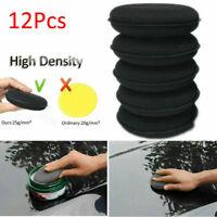 12x Car Applicator Cleaning Polish Pad Foam Sponge High Density Waxing Detailing