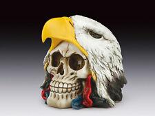 Skull with Eagle Hat Figurine Statue Skeleton Halloween